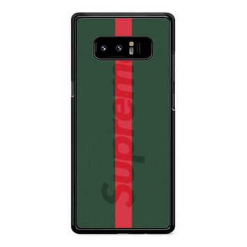 Supreme Green Samsung Galaxy Note 8 Case