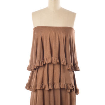 Judith March 3-Tiered Dress (Brown)