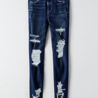 AEO Denim X Super Hi-Rise Jegging, Brilliant Blue