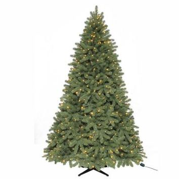 Martha Stewart 7.5 ft. Downswept Denison Pine Quick-Set Artificial Christmas Tree with 550 9-Function LED Lights and Remote Control-TG76P3739D06 - The Home Depot