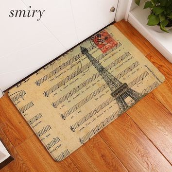 Autumn Fall welcome door mat doormat Smiry 40*60cm Waterproof Decorative Stair Mats Pairs Eiffel Tower Pattern Flower Carpets Anti Slip Living Room Entrance  AT_76_7