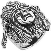 Large Indian Head - Silver Ring