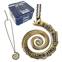 Doctor Who Wibbly Wobbly Vortex Gold Pendant Necklace