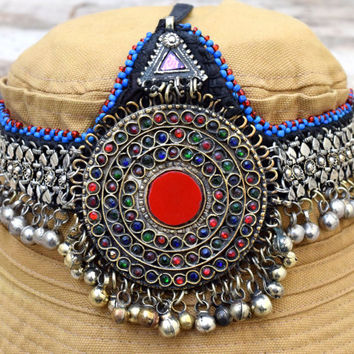 Afghan Kuchi Headpiece,Tribal Headpiece,Hair,Head Piece,Belly Dance Bling,Bohemian Ethnic Headpiece,Headband,Festival,Gypsy Boho Head Dress