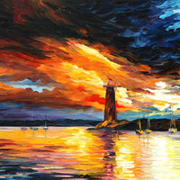 "Before a Storm - PALETTE KNIFE Oil Painting On Canvas By Leonid Afremov - Size 24"" x 30"" from afremov art"