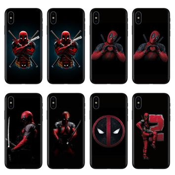 Deadpool Dead pool Taco Soft Black Silicone Phone Cases For iPhone 6S Cover For Coque iPhone 5 5S SE 6 6S 7 8 Plus X 10 Phone Shell Cool Marvel  AT_70_6