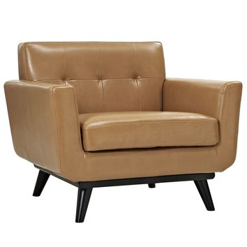 Engage Bonded Leather Armchair Tan EEI-1336-TAN