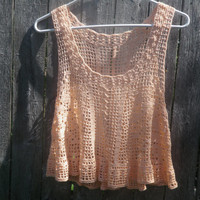 Crochet tank top, womens tank top, Made to order filet crochet