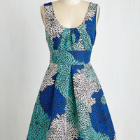 ModCloth Mid-length Sleeveless Fit & Flare Mums the Whirled Dress
