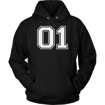 Vintage Sports Jersey Number 01 Hoodie for Fan or Player #01