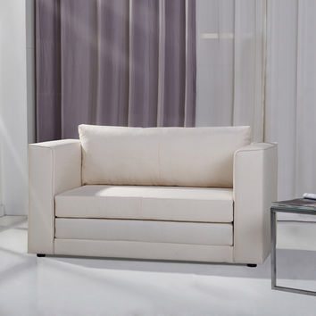 Corona Beige Convertible Loveseat Sleeper | Overstock.com Shopping - The Best Deals on Sofas & Loveseats