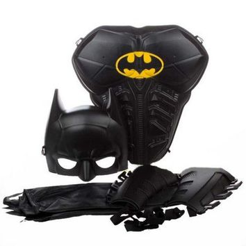 Batman Dark Knight gift Christmas For Children Kids Boy Batman Armor Mask Cloak Stage Shown Props Hallowmas Costume AT_71_6