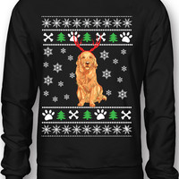 EXCLUSIVE Golden Retriever Ugly Christmas Sweatshirt / Tee - Limited Edition!