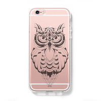 Cute Owl iPhone 6s Clear Case iPhone 6 plus Cover iPhone 5s 5 5c Transparent Case Galaxy S6 Edge S6 S5 Case