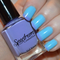BLUE BUTTERFLY Purple to Blue Thernal Nail Polish