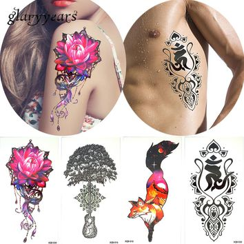 3 Pieces/set Flower Arm Tattoo Decal Body Art Beauty Women Life of Tree Temporary Tattoo Sticker Fake 14 Designs XQB Combination