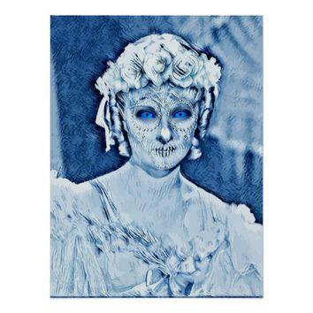 The Ghost bride Abstract Original Art Poster