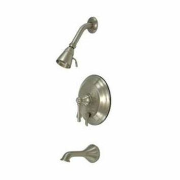 DCCK1IN elements of design eb36380al new orleans satin nickel pressure balanced tub and shower faucet with metal lever