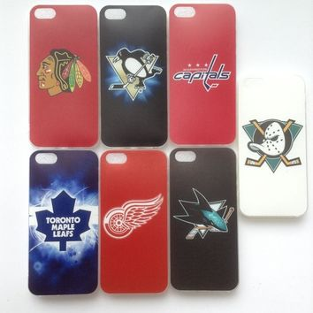 Soft TPU Ice hockey team Blackhawks Penguins Capitals case Coque Fundas cover for iPhone 5s 5 SE 6s 6 7 8 X XS Max XR Case