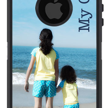 OTTERBOX Defender iPhone 5 5S 5C 4/4S iPod Touch 5G Case Custom PHOTOGRAPH Photo Add Name Initials or Text Personalized Monogram Great Gift