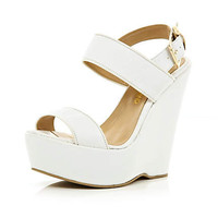 White platform wedges - wedges - shoes / boots - women