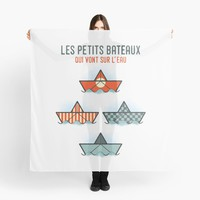 'Les Petits Bateaux - Nautical Flags Edition' Scarf by the99thstudio