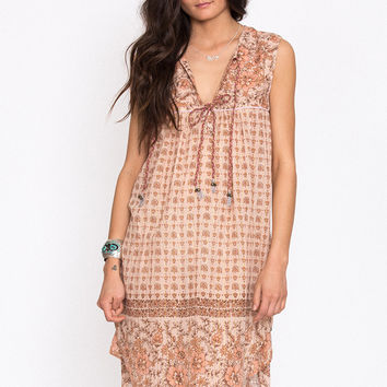 Desert Rose Boho Dress - Sand