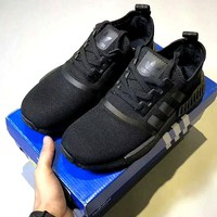 """Adidas"" NMD Women Fashion Trending Sneakers Running Sports Shoes pure black H-CSXY"