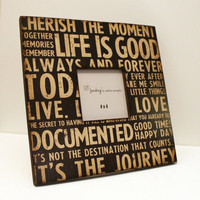 12x12 Large Photo Frame Memory Life Words READY TO by JunebugsCC