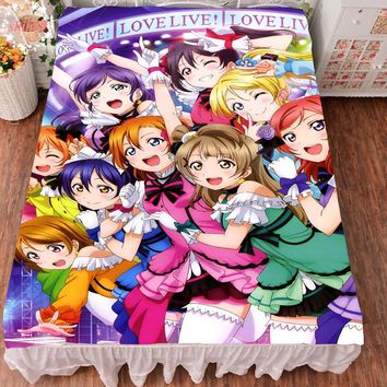 Japan Anime Love Live! Soft Bed sheet Throw Blanket Bedding Coverlet Cosplay Gift