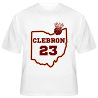 Clebron Lebron James Cleveland Cavaliers Basketball King T Shirt
