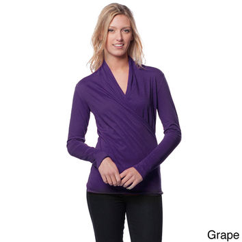 A to Z Women's Long Sleeve Wrap Top | Overstock.com Shopping - The Best Deals on Long Sleeve Shirts