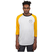 Brixton Wheeler 3/4 Sleeve T-Shirt - White/Gold