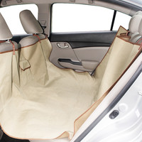 Evelots Back Seat Pet Hammock, Auto Back Seat, Seat Protection From Pets, Beige