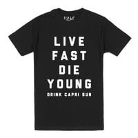 Live Fast Die Young-Unisex Black T-Shirt