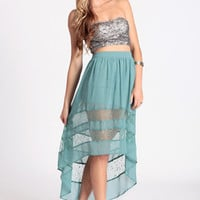 Delicate Balance High-Low Skirt in Mint - $46.00 : ThreadSence.com, Your Spot For Indie Clothing & Indie Urban Culture