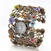 Artemis - Women's Watch Bohemian Fashionable Flower Bracelet = 1928585604