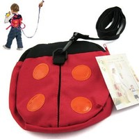 KF Baby Safety Backpack Harness, Ladybug