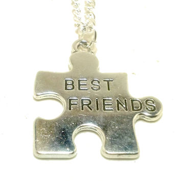 Best Friends Puzzle Necklace