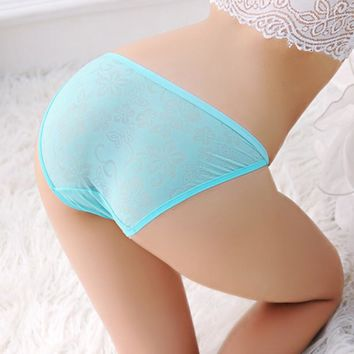 10PCS Exotic Sexy Lingerie Flower Style Lace Panty High Quality Confortable Briefs