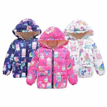 Funky Rabbits Puffy Coat