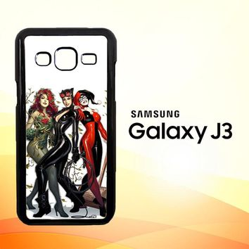 Poison Ivy Harley Quinn,Batgirl And Catwoman  Z0225 Samsung Galaxy J3 Edition 2016 SM-J310 Case