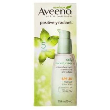 Aveeno® Positively Radiant® Daily Facial Moisturizer With Broad Spectrum SPF 30 - 2.5 fl oz