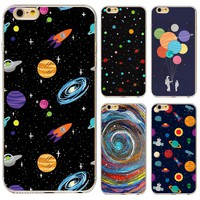 New Arrival Universe Outer Space Star Beautiful Girl Painted Phone Cases For iphone 5 5s 6 6s Soft Back Capa Case