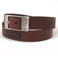 New York Giants NFL Men's Embossed Leather Belt (Size 44)