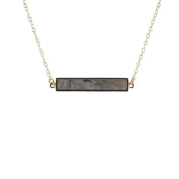 Marble Stone Bar Necklace