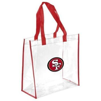 NFL San Francisco 49ers Clear Reusable Plastic Tote Bag NFL 2017 Stadium Aproved