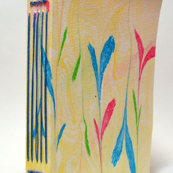 Autism Awareness Journal Featuring a Painting By Abby, Pink, Blue, Green, Yellow, Journal, Notebook, To Do List, Historic Longstitch