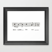 Here comes the sun- the Beatles  Framed Art Print by Elyse Notarianni