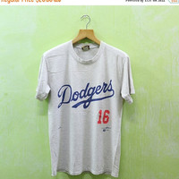 15% SALES Vintage 95 DODGERS 16 NOMO La Los Angeles New York Majestic Baseball Team Mlb Tee T Shirt